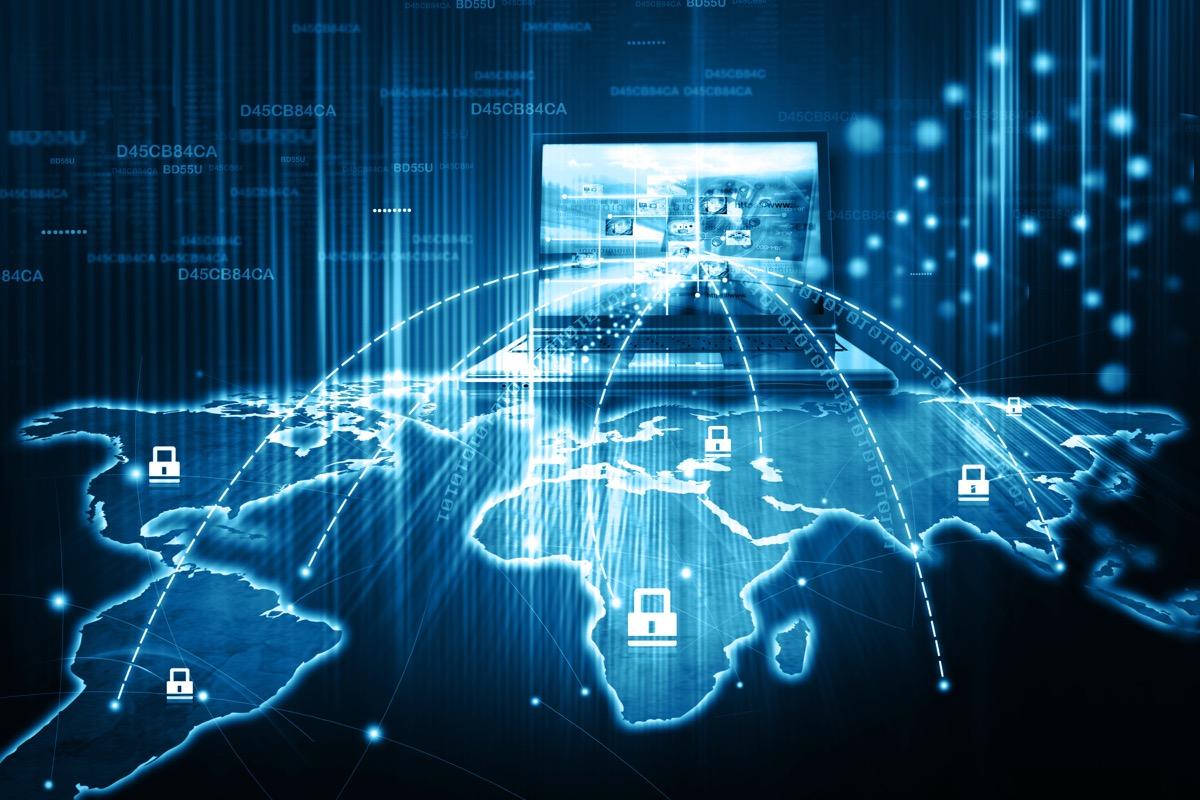 Digital illustration of Network technology
